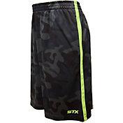 STX Boys' Army Print Interlock Lacrosse Shorts