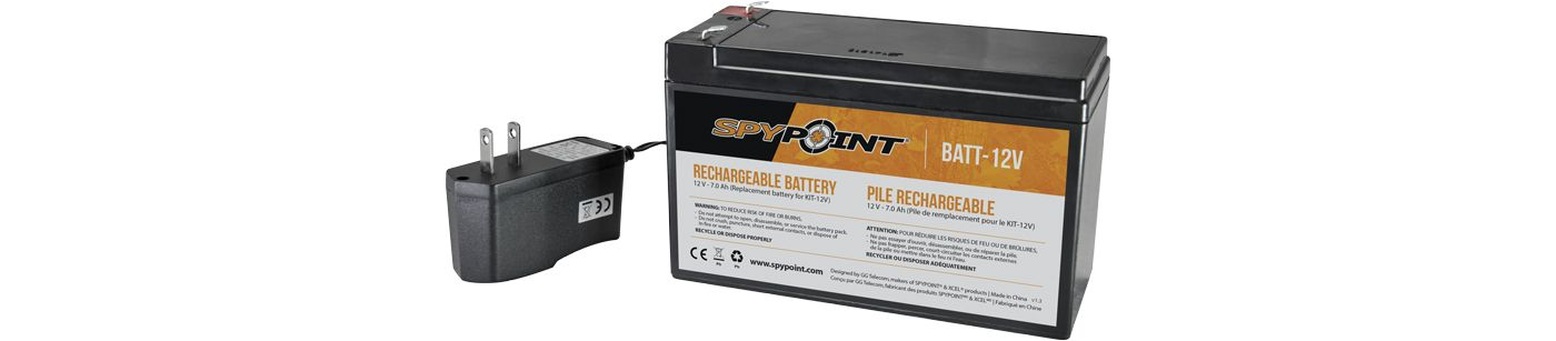 Spypoint Rechargeable 12 Volt Battery and Charger Kit