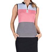 Tail Women's Colorblock Mini Mock Sleeveless Golf Shirt