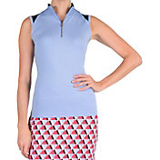 Tail Women's Mist Mock Neck Sleeveless Golf Shirt
