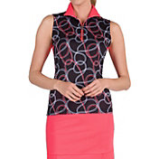 Tail Women's Twine Print Sleeveless Golf Shirt