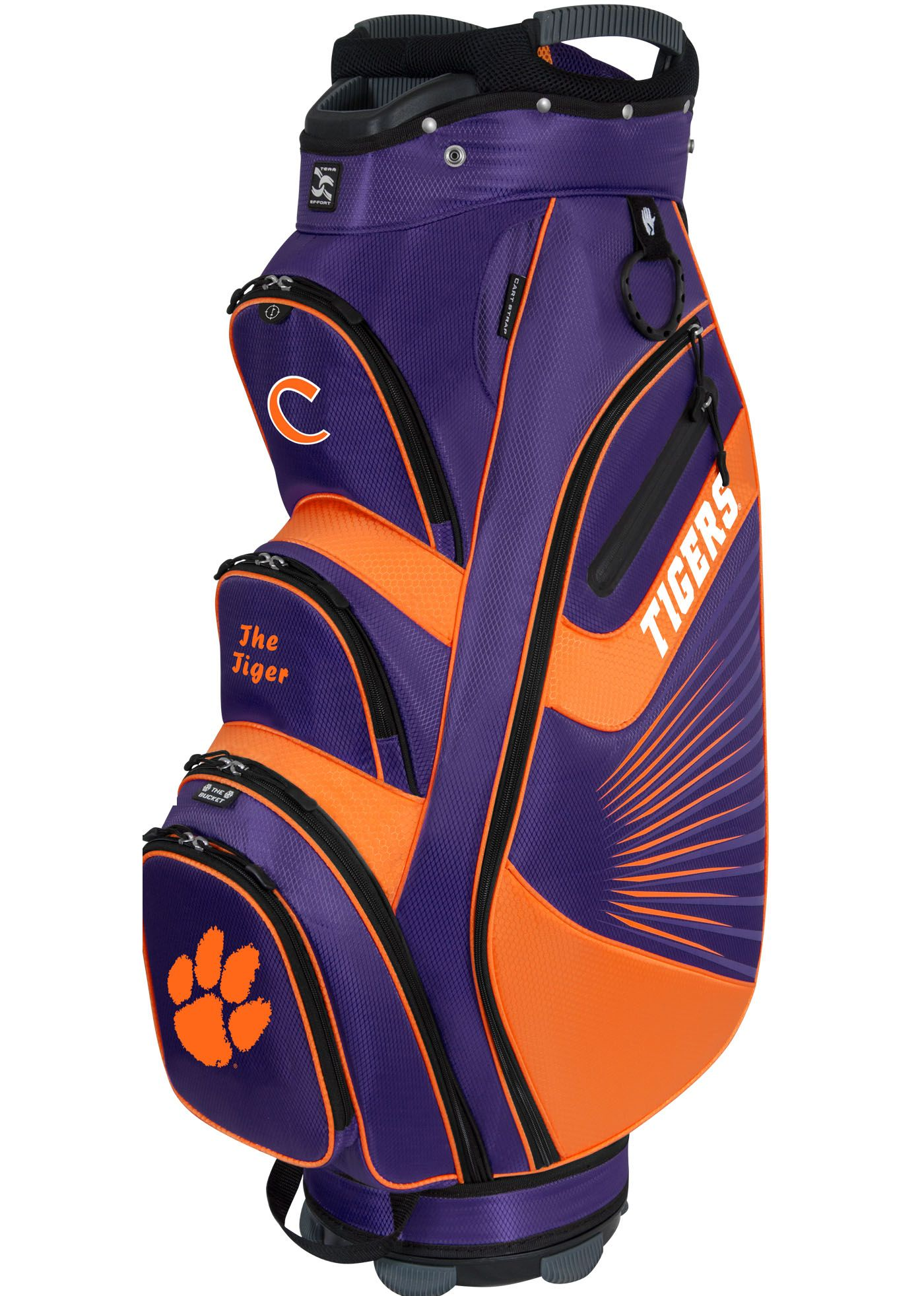 Team Effort Clemson Tigers The Bucket II Cooler Cart Bag