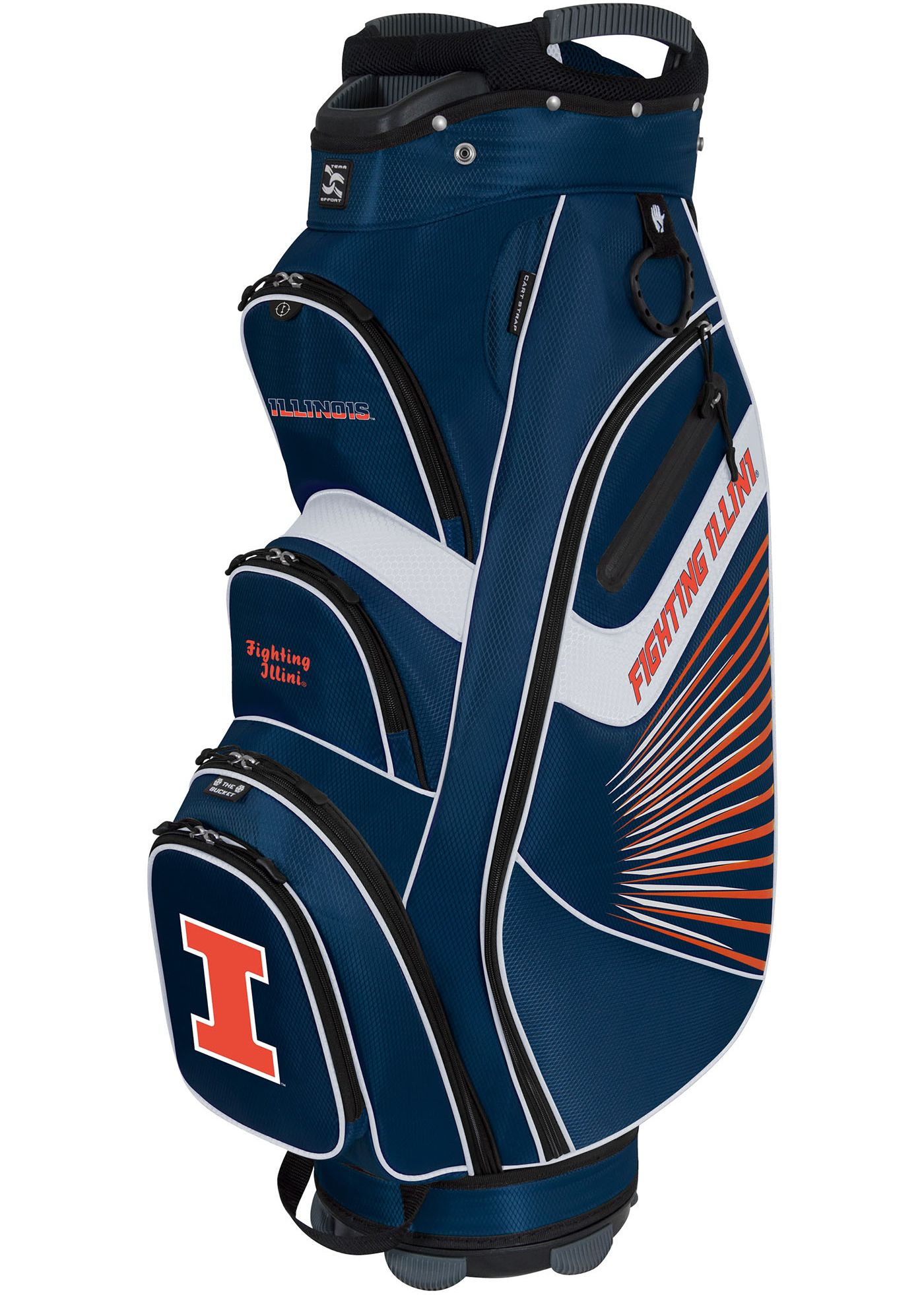 Team Effort The Bucket II Illinois Fighting Illini Cooler Cart Bag