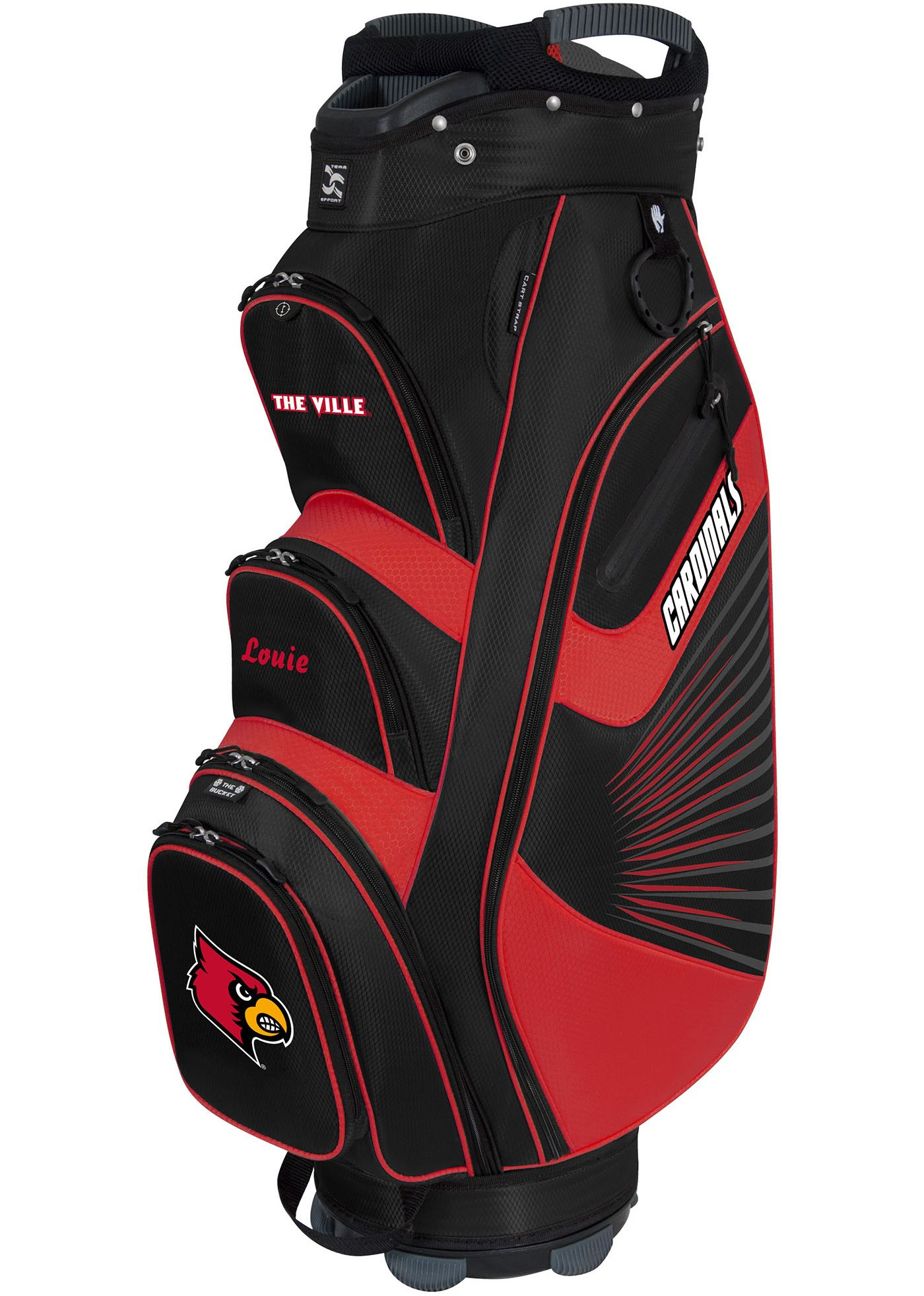 Team Effort The Bucket II Louisville Cardinals Cooler Cart Bag