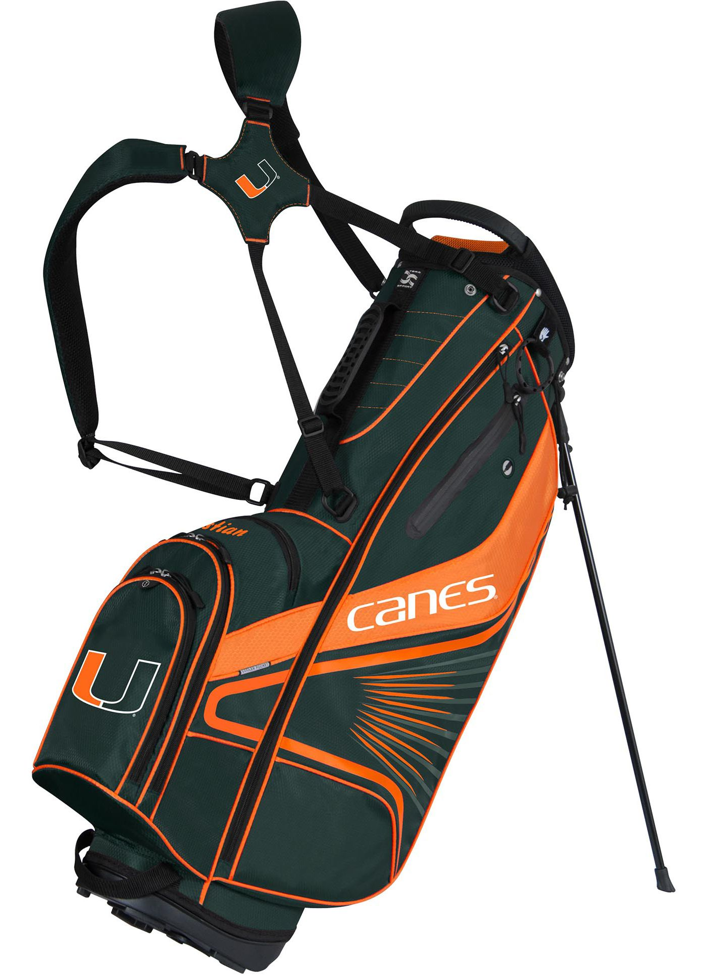 Team Effort GridIron III Miami Hurricanes Stand Bag