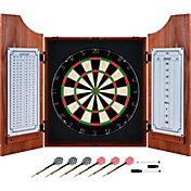Trademark Games Beveled Wood Dart Cabinet Set