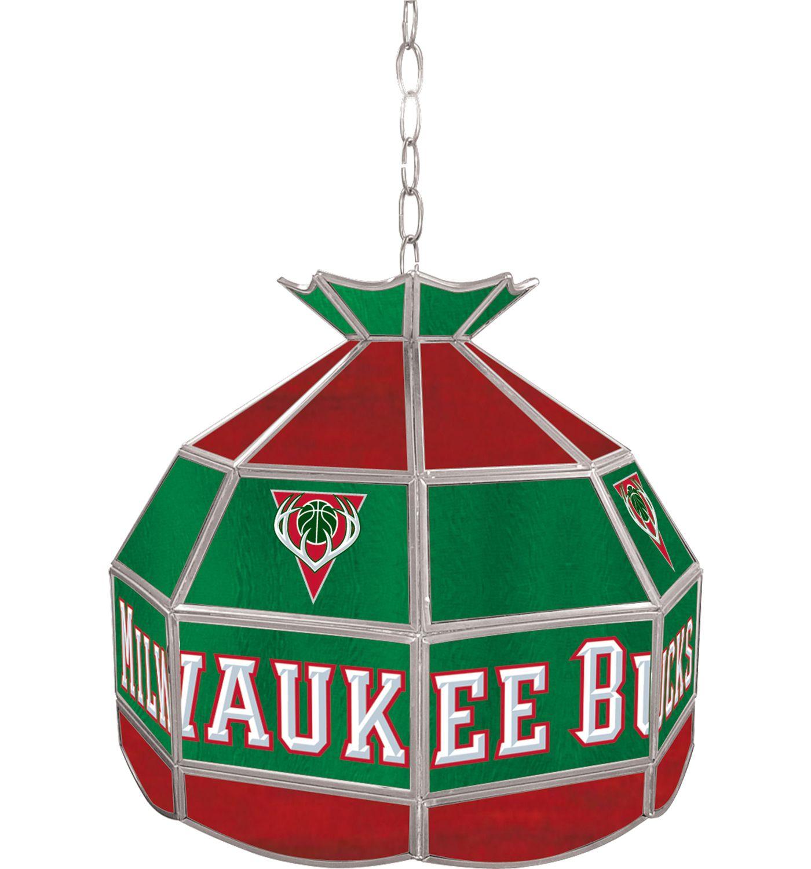 Trademark Games Milwaukee Bucks 16'' Tiffany Lamp