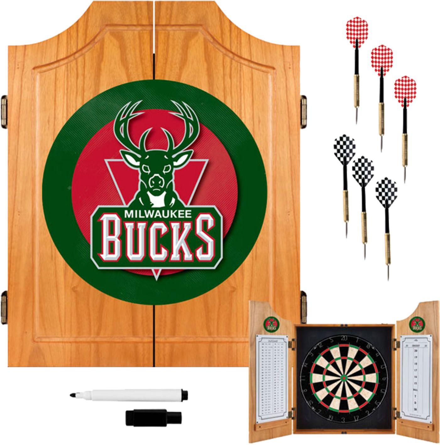 Trademark Games Milwaukee Bucks Dart Cabinet