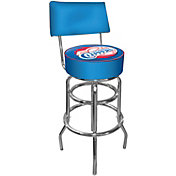 Trademark Games Los Angeles Clippers Padded Swivel Bar Stool with Back