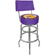 Trademark Games Los Angeles Lakers Padded Swivel Bar Stool with Back