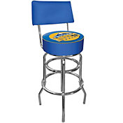 Trademark Games Denver Nuggets Padded Swivel Bar Stool with Back