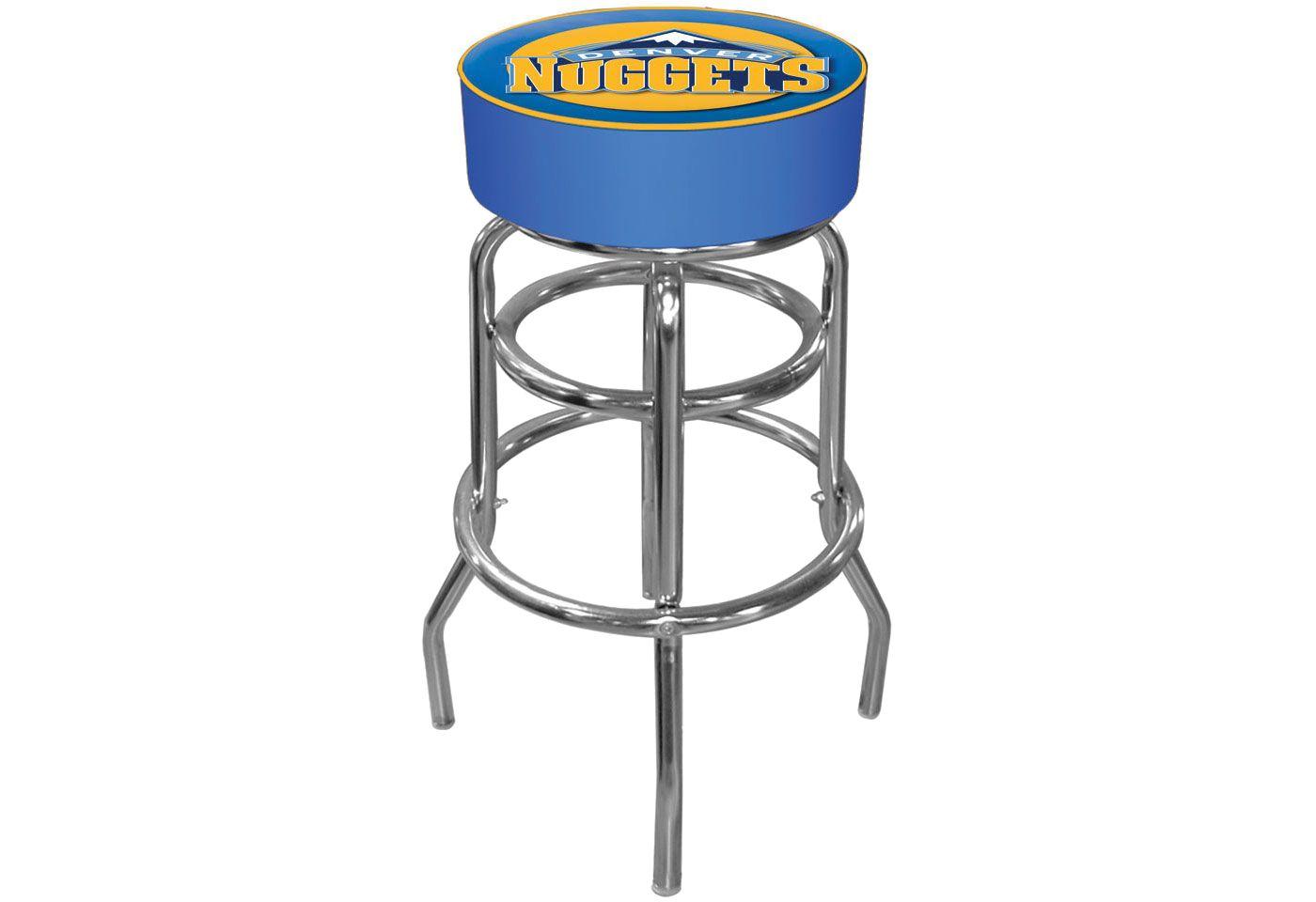 Trademark Games Denver Nuggets Padded Bar Stool