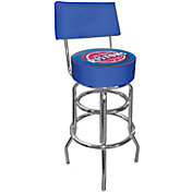 Trademark Games Detroit Pistons Padded Swivel Bar Stool with Back