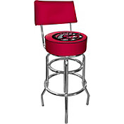 Trademark Games Toronto Raptors Padded Swivel Bar Stool with Back