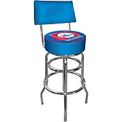 Trademark Games Philadelphia 76ers Padded Swivel Bar Stool with Back