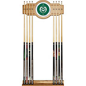 Trademark Games Colorado State Rams 2-Piece Wood and Mirror Wall Cue Rack