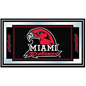 Trademark Games Miami Redhawks Framed Team Logo Mirror