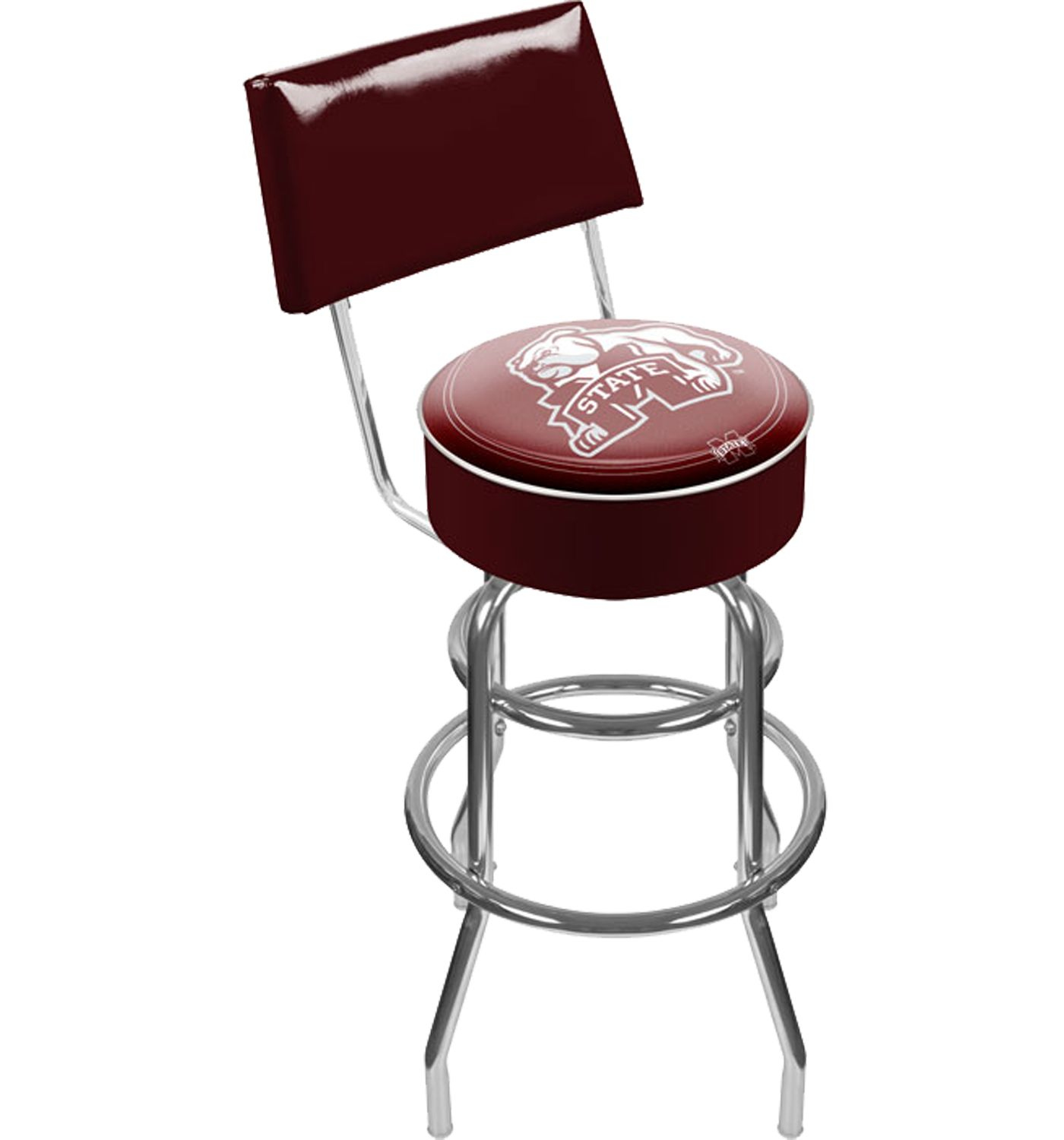 Trademark Games Mississippi State Bulldogs Padded Swivel Bar Stool with Back