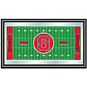 Trademark Games NC State Wolfpack Framed Football Field Mirror