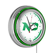Trademark Games North Dakota Fighting Hawks 14'' Neon Clock