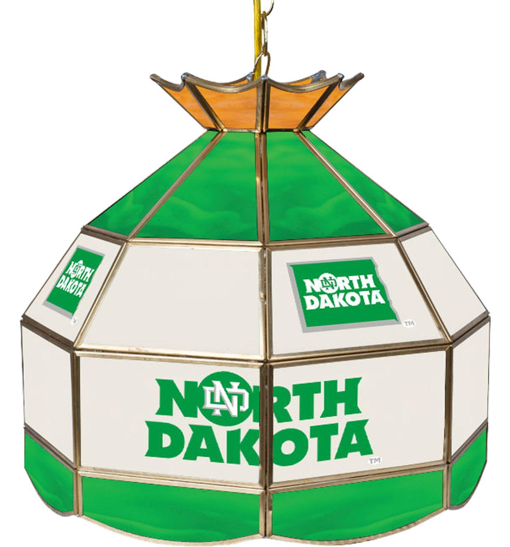 Trademark Games North Dakota Fighting Hawks 16'' Tiffany Lamp