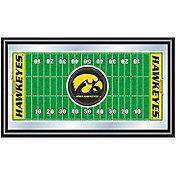 Trademark Games Iowa Hawkeyes Framed Football Field Mirror
