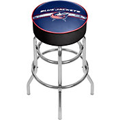 Trademark Games Columbus Blue Jackets Padded Bar Stool