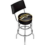 Trademark Games Boston Bruins Padded Swivel Bar Stool with Back