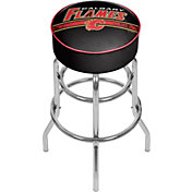 Trademark Games Calgary Flames Padded Bar Stool