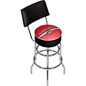 Trademark Games Carolina Hurricanes Padded Swivel Bar Stool with Back