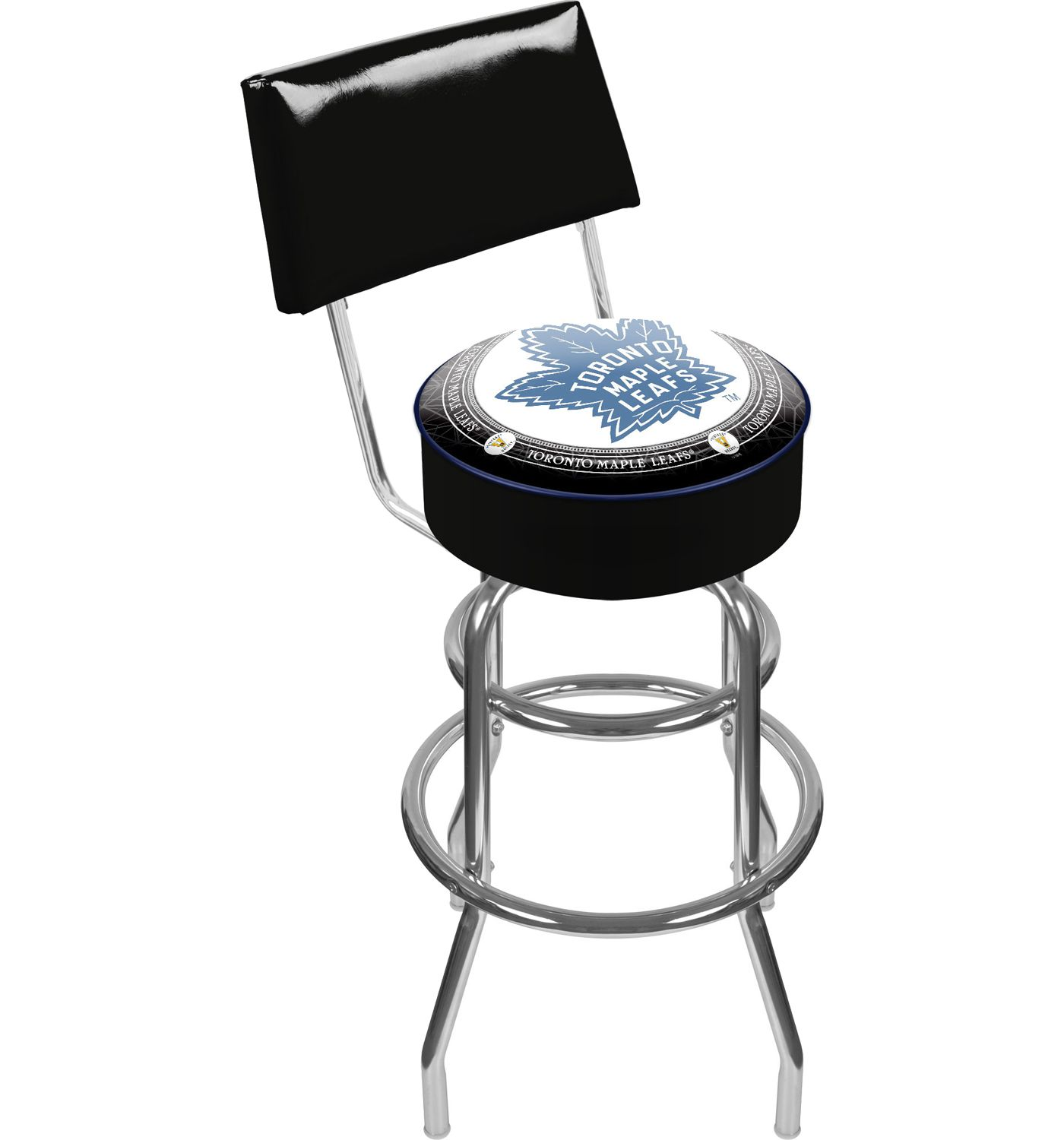 Trademark Games Toronto Maple Leafs Padded Swivel Bar Stool with Back