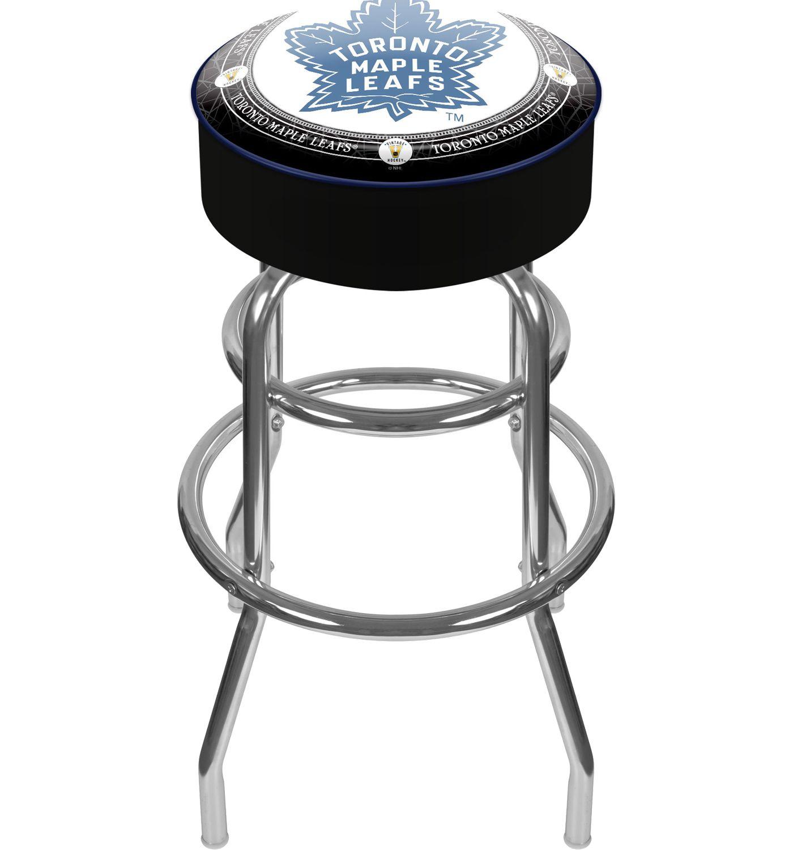 Trademark Games Toronto Maple Leafs Padded Bar Stool