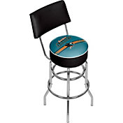Trademark Games San Jose Sharks Padded Swivel Bar Stool with Back