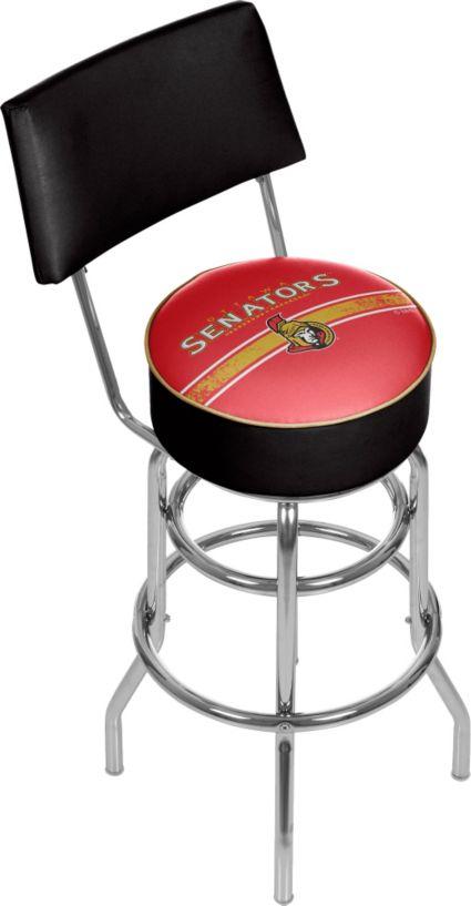 Trademark Ottawa Senators Padded Swivel Bar Stool With Back