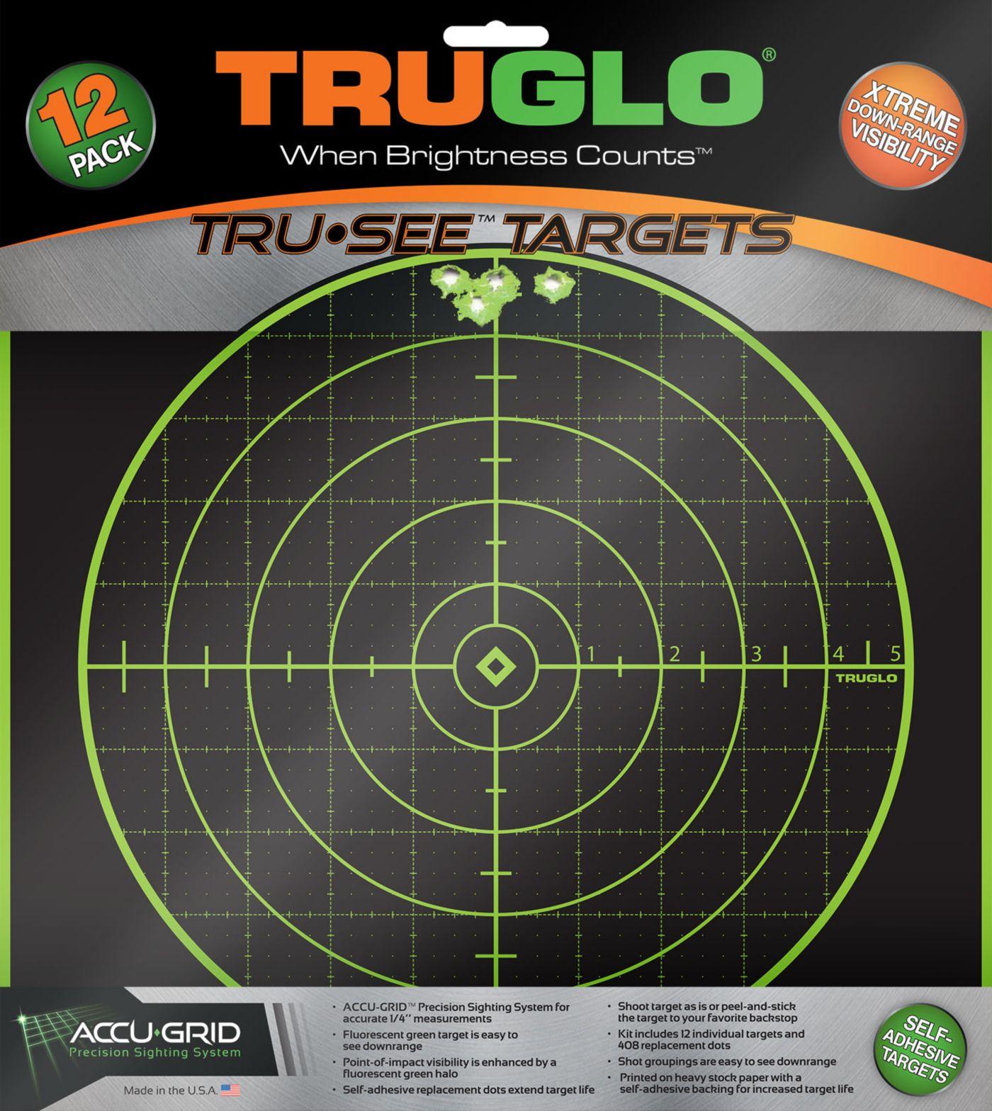 TRUGLO Tru-See Splatter 100-Yard Target – 12 Pack
