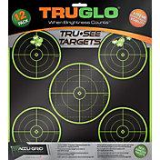 TRUGLO Tru-See Splatter 5-Bullseye Target – 12 Pack