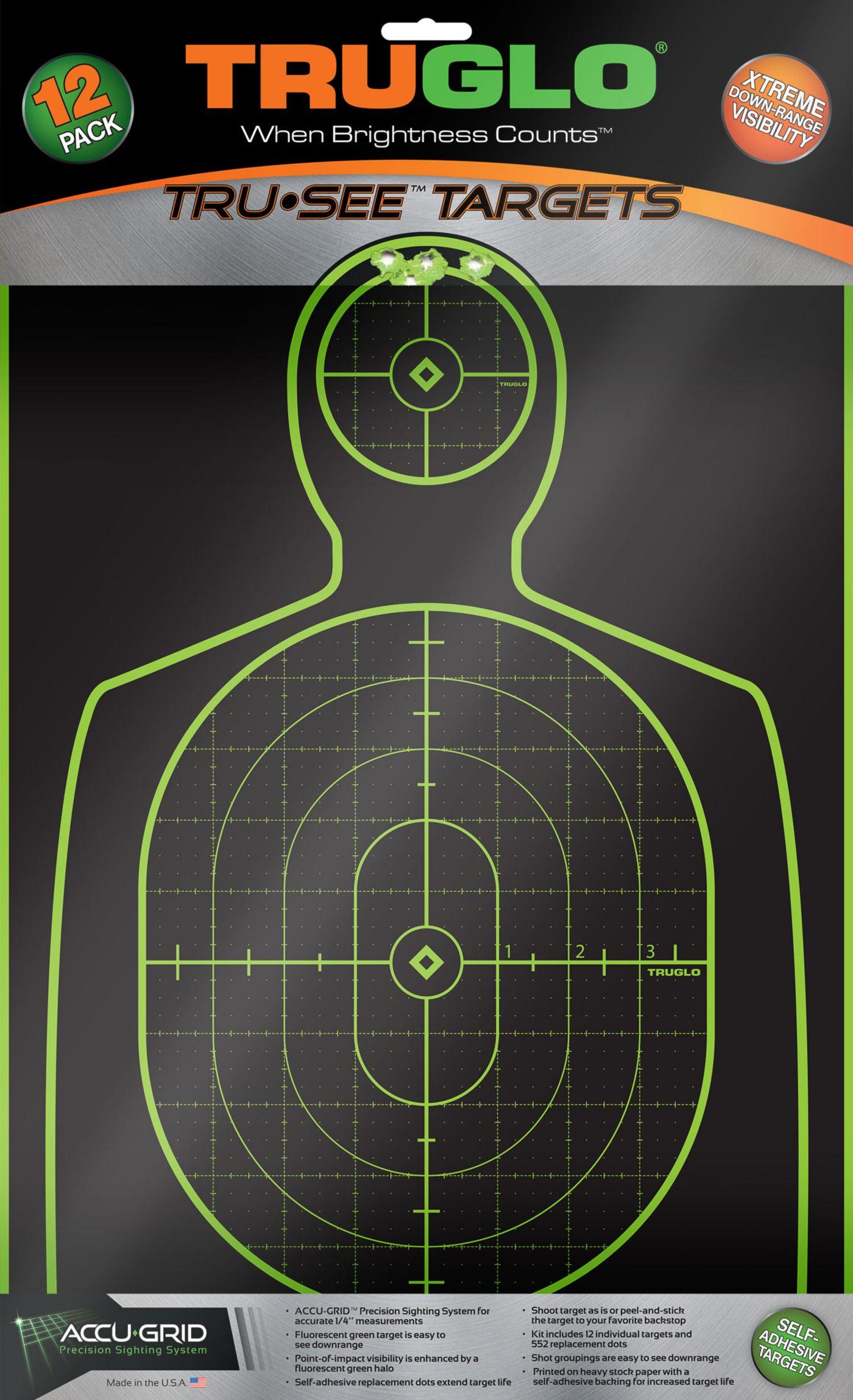 TRUGLO Tru-See Splatter Handgun Target – 12 Pack
