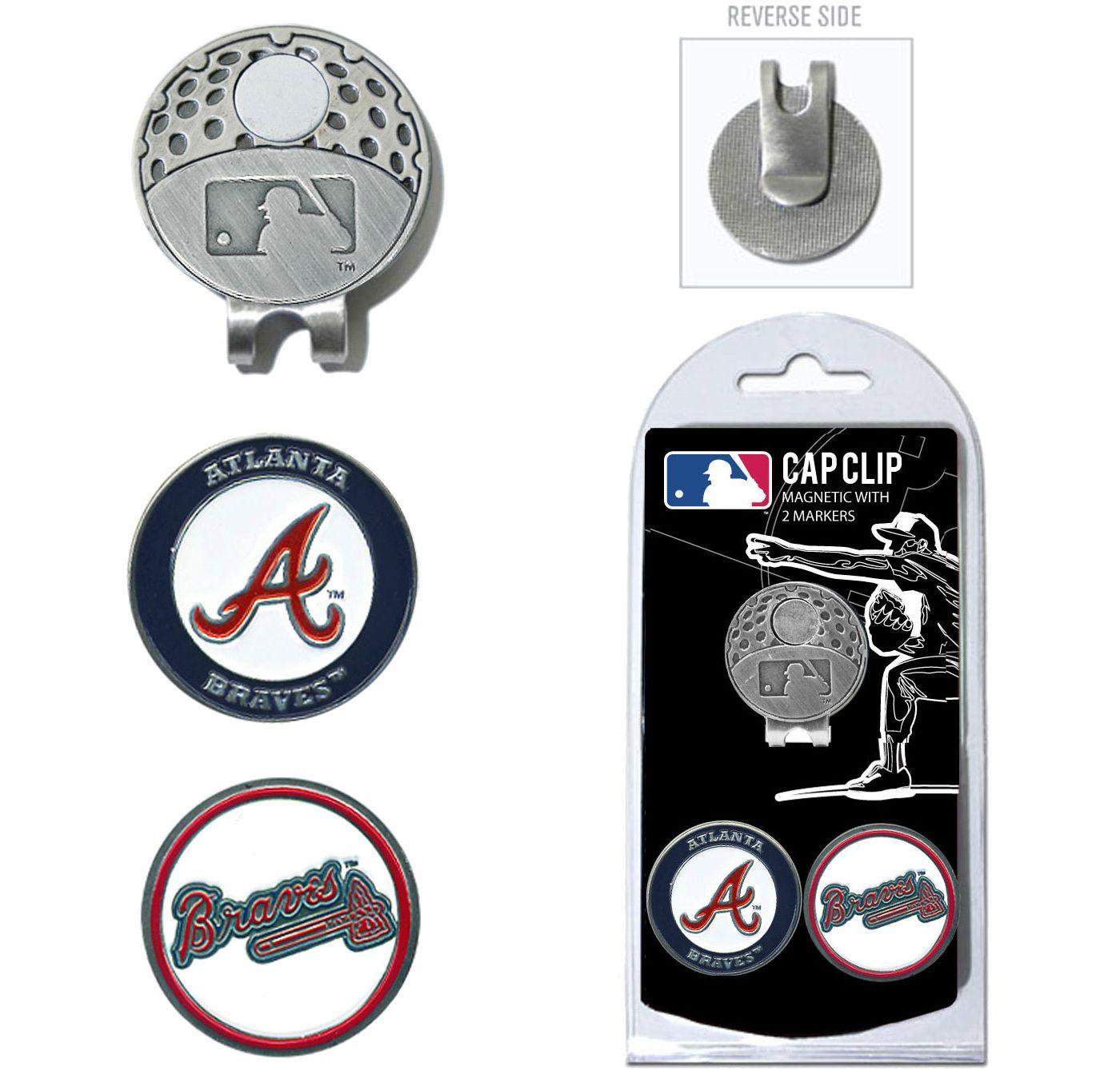 Team Golf Atlanta Braves Cap Clip and Marker Set
