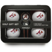 Team Golf Atlanta Braves 4-Ball Tin Set