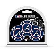 Team Golf Atlanta Braves Poker Chips Ball Markers - 3-Pack