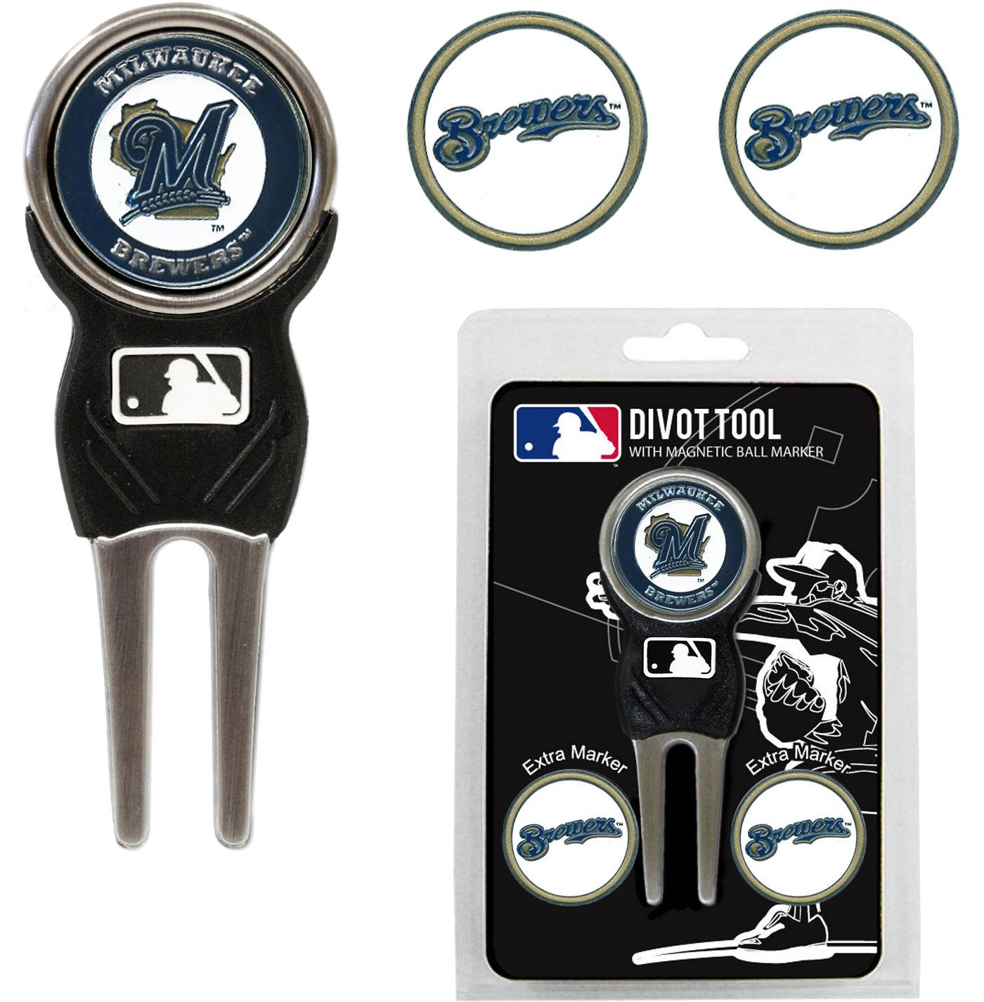 Team Golf Milwaukee Brewers Divot Tool and Marker Set