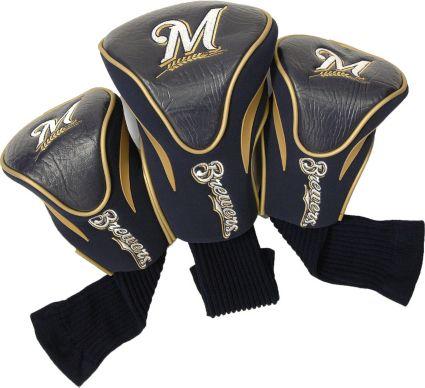 Team Golf Milwaukee Brewers Contour Sock Headcovers - 3 Pack
