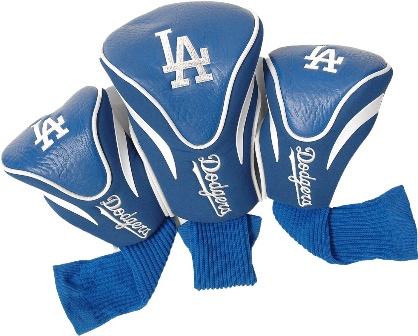 Team Golf Los Angeles Dodgers Contour Sock Headcovers - 3 Pack