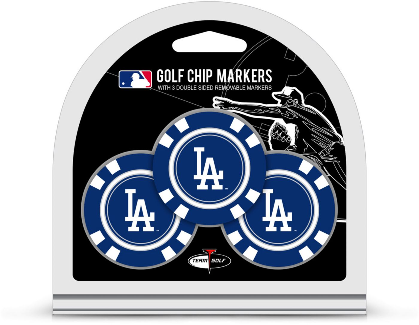 Team Golf Los Angeles Dodgers Golf Chips - 3 Pack