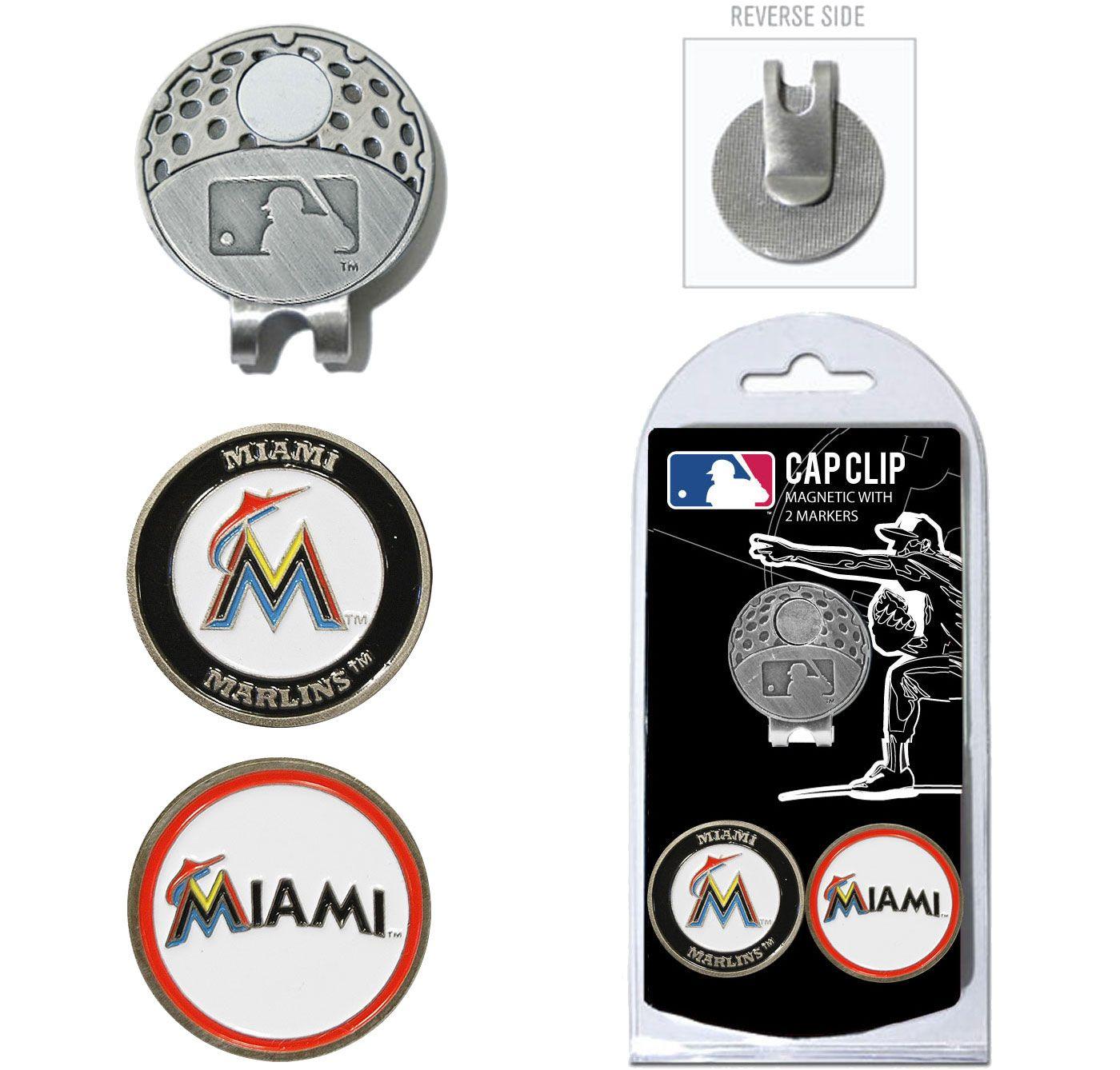 Team Golf Miami Marlins Cap Clip and Marker Set