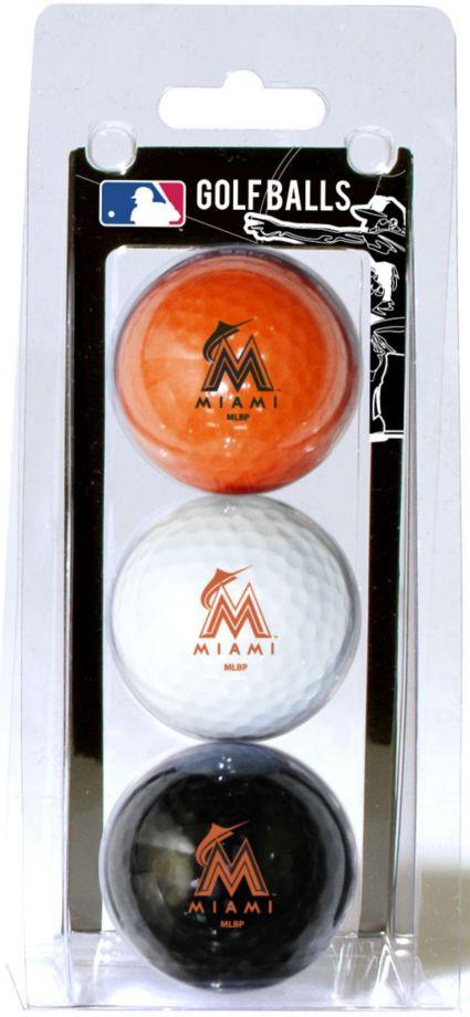 Team Golf Miami Marlins Golf Balls - 3-Pack