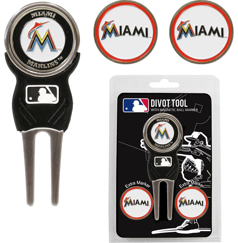 Team Golf Miami Marlins Divot Tool and Marker Set