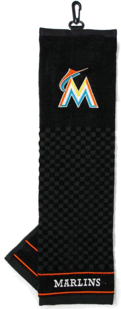 Team Golf Miami Marlins Embroidered Golf Towel