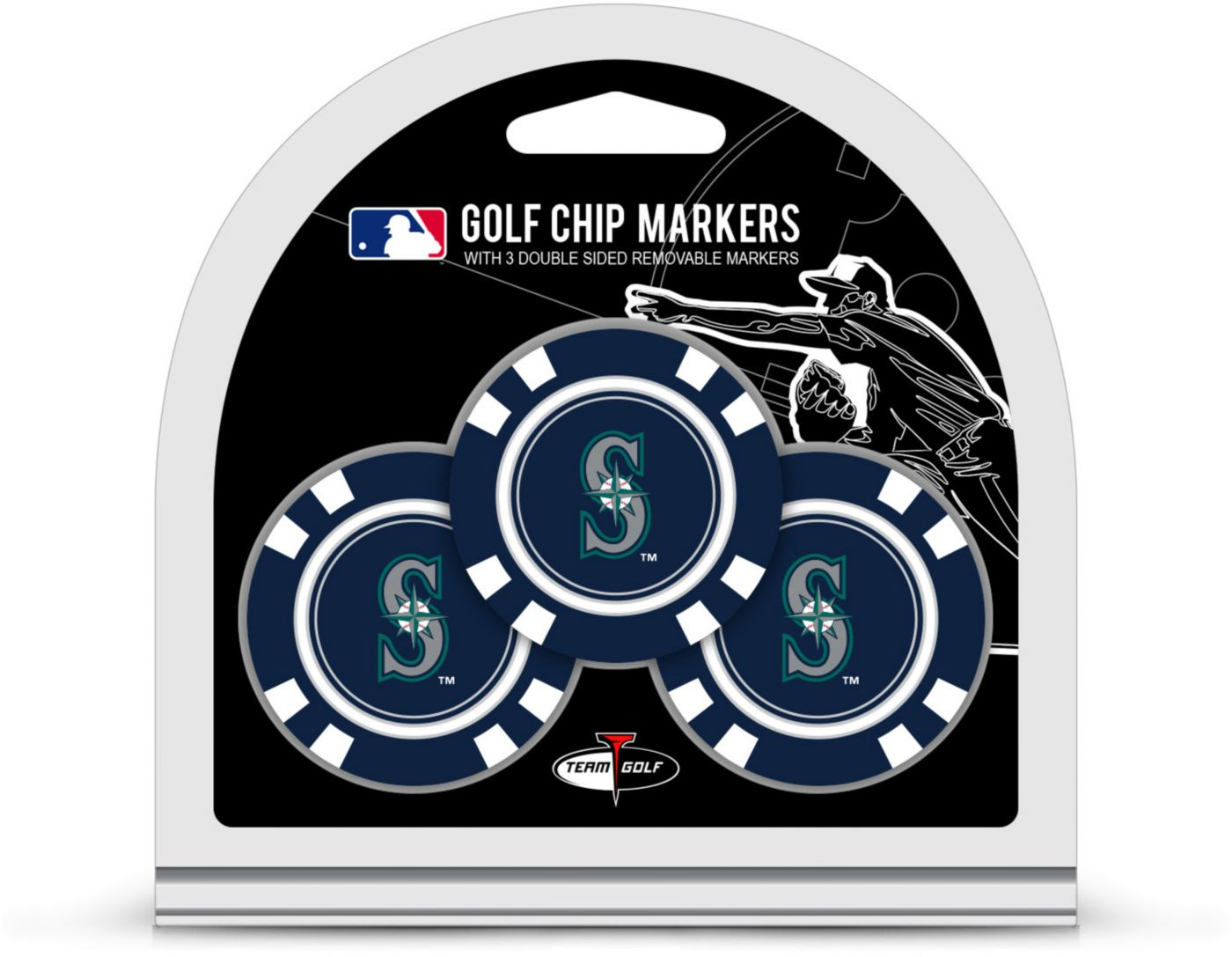 Team Golf Seattle Mariners Golf Chips - 3 Pack