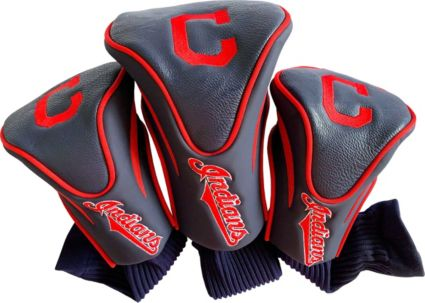Team Golf Cleveland Indians Contour Sock Headcovers - 3 Pack